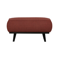 BePureHome Hocker 'Statement' Bouclé, kleur Chestnut