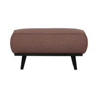 BePureHome Hocker 'Statement' Bouclé, kleur Coffee