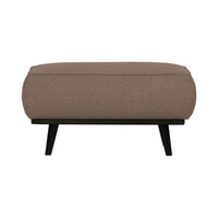 BePureHome Hocker 'Statement' Bouclé, kleur Nougat