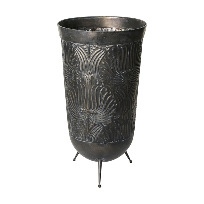 PTMD Plantenbak 'Doris', Metaal, 57.5 x 32cm, kleur Grijs