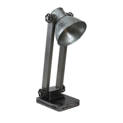 PTMD Bureaulamp 'Sjors', Metaal, 48cm, kleur Grijs