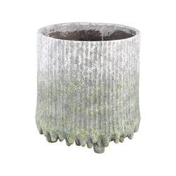 PTMD Pot 'Zella', Cement, 42 x 40cm, kleur Groen
