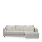Rivièra Maison Loungebank 'Kendall' Rechts, Oxford Weave, kleur Alaskan White