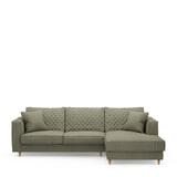 Rivièra Maison Loungebank 'Kendall' Rechts, Oxford Weave, kleur Forest Green
