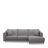 Rivièra Maison Loungebank 'Kendall' Rechts, Oxford Weave, kleur Steel Grey