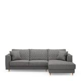 Rivièra Maison Loungebank 'Kendall' Rechts, Oxford Weave, kleur Classic Charcoal