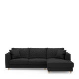 Rivièra Maison Loungebank 'Kendall' Rechts, Oxford Weave, kleur Basic Black