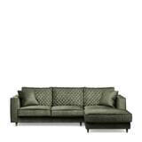 Rivièra Maison Loungebank 'Kendall' Rechts, Velvet, kleur Ivy
