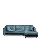 Rivièra Maison Loungebank 'Kendall' Rechts, Velvet, kleur Petrol