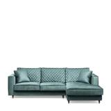 Rivièra Maison Loungebank 'Kendall' Rechts, Velvet, kleur Mineral Blue