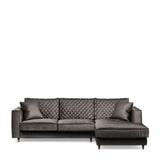 Rivièra Maison Loungebank 'Kendall' Rechts, Velvet, kleur Grimaldi Grey