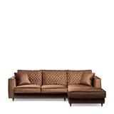 Rivièra Maison Loungebank 'Kendall' Rechts, Velvet, kleur Chocolate