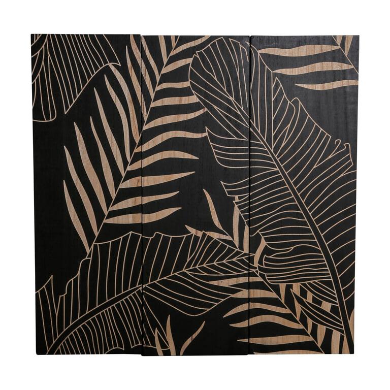 PTMD Wandpaneel 'Neeron', Hout, 90 x 90cm, set van 3, kleur Bruin