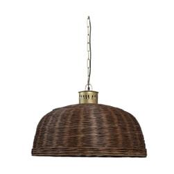 PTMD Plafondlamp 'Rayen', Riet, 70 x 40cm, kleur Bruin