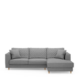 Rivièra Maison Loungebank 'Kendall' Rechts, Washed Cotton, kleur Grey