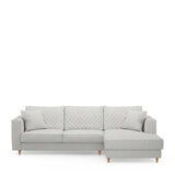 Rivièra Maison Loungebank 'Kendall' Rechts, Washed Cotton, kleur Ash Grey