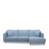 Rivièra Maison Loungebank 'Kendall' Rechts, Washed Cotton, kleur Ice blue