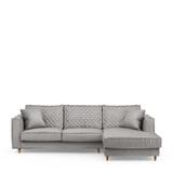 Rivièra Maison Loungebank 'Kendall' Rechts, Velvet, kleur Platinum
