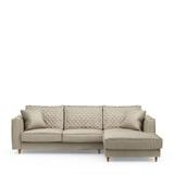 Rivièra Maison Loungebank 'Kendall' Rechts, Velvet, kleur Pearl