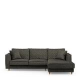 Rivièra Maison Loungebank 'Kendall' Rechts, Velvet, kleur Shadow