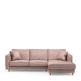 Rivièra Maison Loungebank 'Kendall' Rechts, Velvet, kleur Blossom