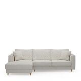 Rivièra Maison Loungebank 'Kendall' Links, Oxford Weave, kleur Alaskan White