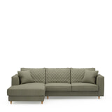 Rivièra Maison Loungebank 'Kendall' Links, Oxford Weave, kleur Forest Green
