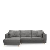 Rivièra Maison Loungebank 'Kendall' Links, Oxford Weave, kleur Classic Charcoal