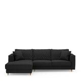 Rivièra Maison Loungebank 'Kendall' Links, Oxford Weave, kleur Basic Black