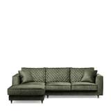 Rivièra Maison Loungebank 'Kendall' Links, Velvet, kleur Ivy