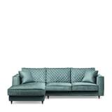 Rivièra Maison Loungebank 'Kendall' Links, Velvet, kleur Mineral Blue