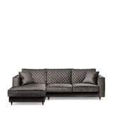Rivièra Maison Loungebank 'Kendall' Links, Velvet, kleur Grimaldi Grey