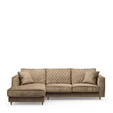 Rivièra Maison Loungebank 'Kendall' Links, Velvet, kleur Golden Beige