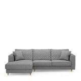 Rivièra Maison Loungebank 'Kendall' Links, Cotton, kleur Grey
