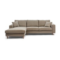 Rivièra Maison Loungebank 'Kendall' Links, Cotton, kleur Stone