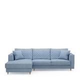 Rivièra Maison Loungebank 'Kendall' Links, Cotton, kleur Ice Blue