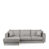 Rivièra Maison Loungebank 'Kendall' Links, Velvet, kleur Platinum