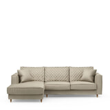 Rivièra Maison Loungebank 'Kendall' Links, Velvet, kleur Pearl