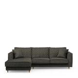 Rivièra Maison Loungebank 'Kendall' Links, Velvet, kleur Shadow
