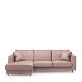 Rivièra Maison Loungebank 'Kendall' Links, Velvet, kleur Blossom