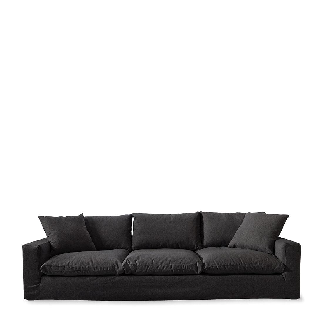 Rivièra Maison Bank Residenza XL, Oxford Weave, kleur Basic Black