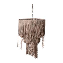 PTMD Hanglamp 'Renzo', Suede, 80 x 50cm, kleur Beige