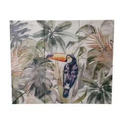 PTMD Wandpaneel 'Daira', Hout, 120 x 145 cm, kleur Groen