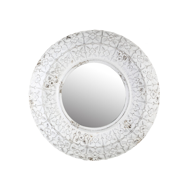 PTMD Spiegel 'Elvire', Kunsthars, 80cm, kleur Crème