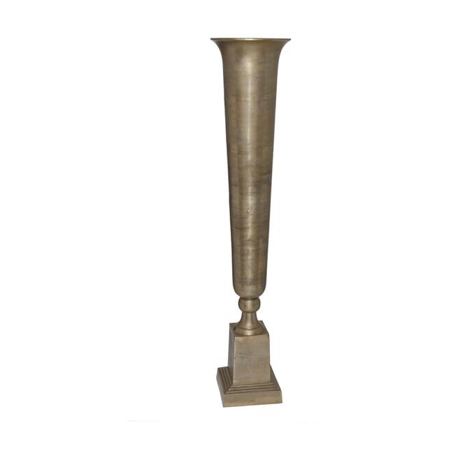PTMD Vaas 'Charll', Aluminium, 64 x 35cm, kleur Champagne