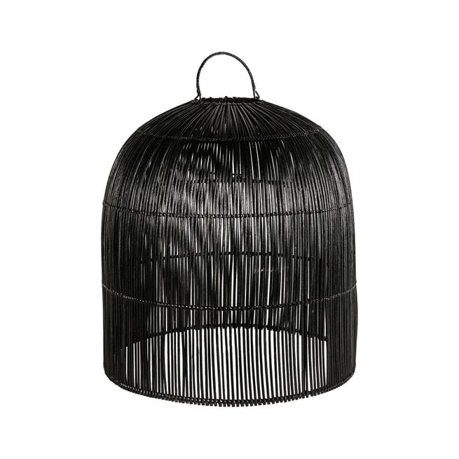 PTMD Lampenkap 'Colby' Rotan, kleur Zwart