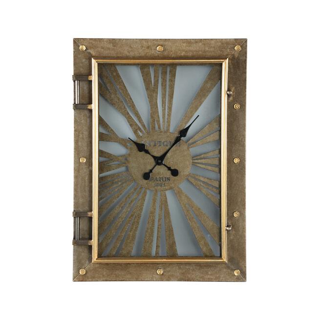 PTMD Klok 'Devan', Metaal, 57 x 78 x 12cm, kleur Goud