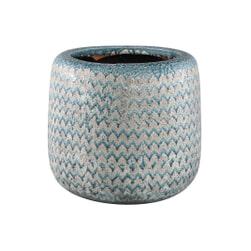 PTMD Pot 'Jasper', Keramiek, 80 x 25 x 30cm, kleur Blauw