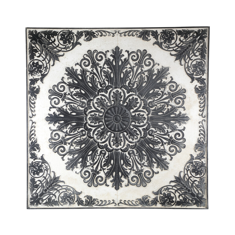 PTMD Wandpaneel 'Lorenz', Hout, 116,5 cm, kleur Zwart