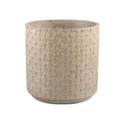 PTMD Pot 'Xena', Cement, 50 x 50cm, kleur Crème